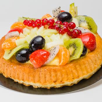 Bisquit vlaai fruit 8 personen