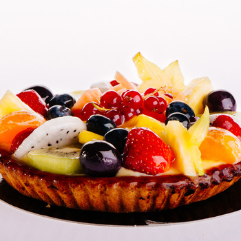 Vers fruit zacht deeg 6 personen